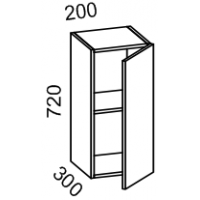 Шкаф навесной 200 (Дуб белёный с патиной золото)