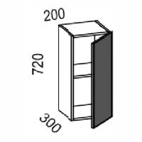 Шкаф навесной 200 (МДФ баклажан)
