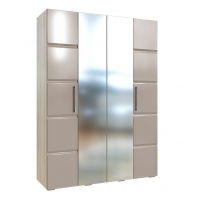 Шкаф 4-х дверный София Кальпе (Латте глянец)