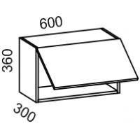 Шкаф навесной над духовкой 600 (Дуб белёный с патиной золото)