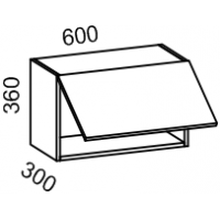 Шкаф навесной 600х360 (Бланко Синяя)