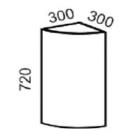 Шкаф навесной радиусный (Дуб белёный с патиной золото)