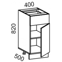 Тумба рабочая 400 с 1 выдвижным ящиком (пластик Альфа)