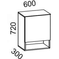 Шкаф навесной 600 с нишей (ясень шимо тем+ясень шимо св)