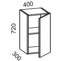 Шкаф навесной 400 (Дуб белёный с патиной золото)
