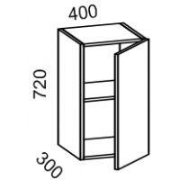 Шкаф навесной 400 (Страйп черный/белый)