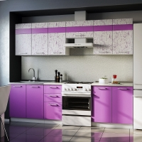 Кухонный гарнитур АРТ-Фиолет 2.6 м.