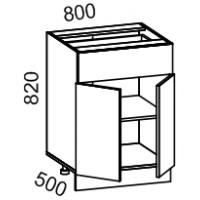Тумба рабочая 800 с 1 выдвижным ящиком Дуб Сонома