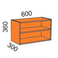Шкаф навесной 600*360 открытый (Манго)