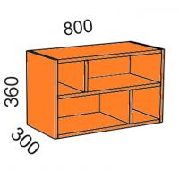 Шкаф навесной 800*360 открытый (Манго)