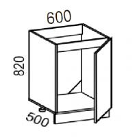 Тумба под мойку 600 (Дуб золотой+бронза)