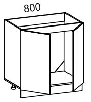 Тумба рабочая под мойку 800 (ясень шимо темный)