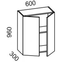 Шкаф навесной 600 высота 960 (Бланко Синяя)