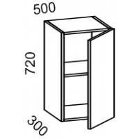 Шкаф навесной 500 высота 720 (Бланко Белая)