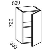 Шкаф навесной 500 высота 720 (Бланко Синяя)