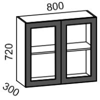 Шкаф-витрина 800 (Шоколад матовый)
