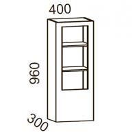 Шкаф-витрина 400 высота 960 (Бланко Синяя)