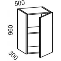 Шкаф навесной 500 высота 960 (Бланко Синяя)