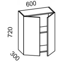 Шкаф навесной 600 высота 720 (Бланко Синяя)