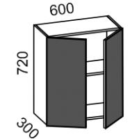 Шкаф навесной 600 (МДФ баклажан)