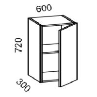 Шкаф навесной 600 (ясень шимо тем+ясень шимо св)