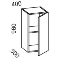 Шкаф навесной 400 высота 960 (Бланко Синяя)