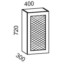 Шкаф навесной 400 с перфорацией (Бирюза)