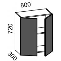 Шкаф навесной 800 (МДФ баклажан)