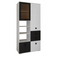 Шкаф с витриной и ящиками Домино