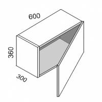 Шкаф навесной над духовкой 600*360  Ольха