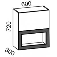 Шкаф витрина 600 2-х ярусный (ваниль+латте глянец)