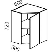 Шкаф навесной угловой (Красный глянец)