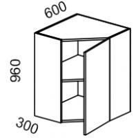 Шкаф угловой высота 960 (Бланко Синяя)