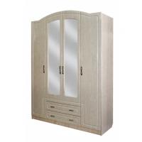 Шкаф для платья и белья с зеркалом Афина-4