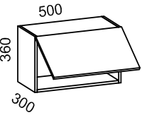 Шкаф навесной над духовкой 500 (Дуб белёный с патиной золото)