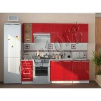 Модульный кухонный гарнитур Красный Пластик