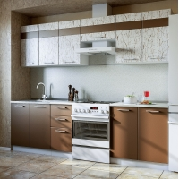 Кухонный гарнитур АРТ-Шоколад 2.6 м.