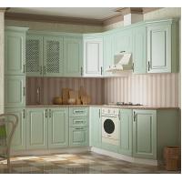Кухонный гарнитур Кантри зеленая (эмаль)