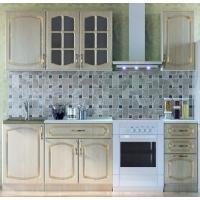 Кухонный гарнитур Дуб белёный с патиной золото 1.7 м.
