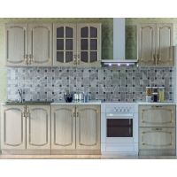 Кухонный гарнитур Дуб белёный с патиной золото 2.2 м.