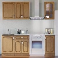 Кухонный гарнитур Дуб натуральный 1.5 м.