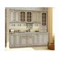 Модульный кухонный гарнитур Дуб белёный с патиной Золото