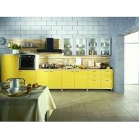 Модульный кухонный гарнитур Жёлтый Пластик
