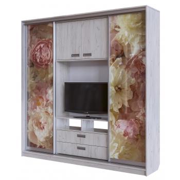 Шкаф-купе с наполнением под ТВ (Фотопечать)