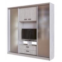 Шкаф-купе с наполнением под ТВ (Зеркала)