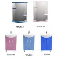 Комплект мебели в ванную Волна 55, цвета разные