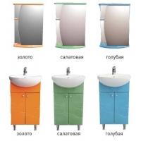 Комплект мебели в ванную Лиана 50, цвета разные
