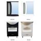 Комплект мебели в ванную Сатурн, черный/белый