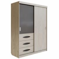 Шкаф для одежды 1600 Литисия (Дуб крафт+серый графит)
