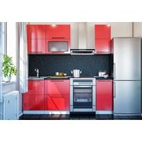 Описание кухни Красный глянец  МДФ